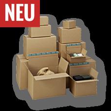 System-Versand-Transportverpackungen mit Selbstklebeverschluss